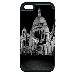 Vintage France Paris The Sacre Coeur Basilica 1970 Apple Iphone 5 Hardshell Case (pc+silicone) by Vintagephotos