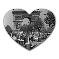 Vinatge France Paris Triumphal Arch 1970 Mouse Pad (heart) by Vintagephotos
