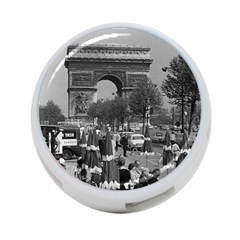 Vinatge France Paris Triumphal Arch 1970 Twin Sided 4 Port Usb Hub (round)
