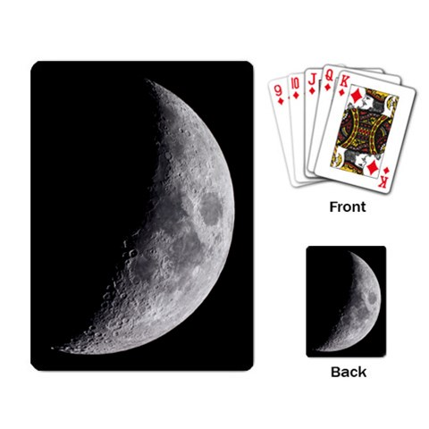 Crescent Moon Playing Cards By Bg Boyd Photography (bgphoto)   Playing Cards Single Design   V57jlwo155gw   Www Artscow Com Back