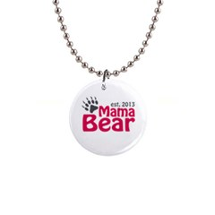 Mama Bear Claw 2013 Mini Button Necklace by CleverestTees