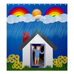 Rainbows and Showers Curtain - Shower Curtain 66  x 72  (Large)