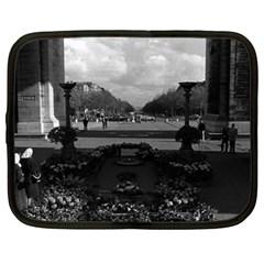 Vintage France Paris Triumphal Arch Unknown Soldier 13  Netbook Case