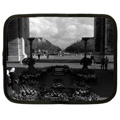 Vintage France Paris Triumphal Arch Unknown Soldier 15  Netbook Case by Vintagephotos