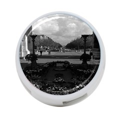 Vintage France Paris Triumphal Arch Unknown Soldier Twin Sided 4 Port Usb Hub (round) by Vintagephotos