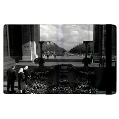 Vintage France Paris Triumphal Arch Unknown Soldier Apple Ipad 2 Flip Case by Vintagephotos