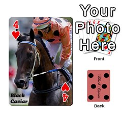 Black Caviar By Banger Harvey   Playing Cards 54 Designs   Hehizzgmko9e   Www Artscow Com Front - Heart4