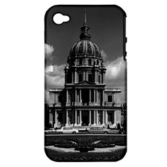 Vintage France Paris Church Saint Louis Des Invalides Apple Iphone 4/4s Hardshell Case (pc+silicone) by Vintagephotos