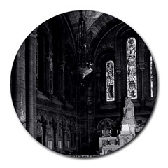 Vintage France Paris Sacre Coeur Basilica Virgin Chapel 8  Mouse Pad (round) by Vintagephotos
