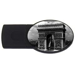 Vintage  France Paris Triumphal Arch  Place De L etoile 2gb Usb Flash Drive (oval) by Vintagephotos