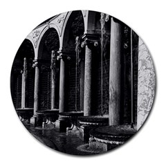 Vintage France Palace Of Versailles Colonnade Grove 8  Mouse Pad (round) by Vintagephotos