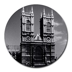Vintage Uk England London Westminster Abbey 1970 8  Mouse Pad (round)