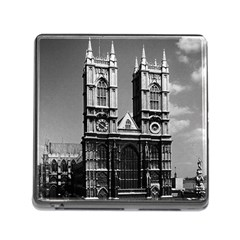Vintage Uk England London Westminster Abbey 1970 Card Reader With Storage (square) by Vintagephotos