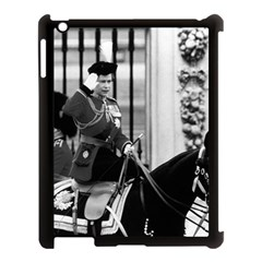 Vintage Uk England  Queen Elizabeth 2 Buckingham Palace Apple Ipad 3/4 Case (black) by Vintagephotos