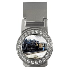 The Steam Train Money Clip With Gemstones (round) by AkaBArt