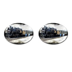 The Steam Train Oval Cuff Links by AkaBArt