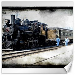 The Steam Train 20  X 20  Unframed Canvas Print by AkaBArt