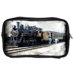 The Steam Train Twin Sided Personal Care Bag by AkaBArt