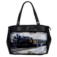 The Steam Train Single-sided Oversized Handbag by AkaBArt
