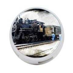 The Steam Train Twin-sided 4 Port USB Hub (Round) by AkaBArt