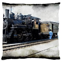The Steam Train Large Cushion Case (two Sides) by AkaBArt