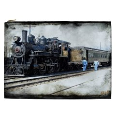 The Steam Train Cosmetic Bag (xxl) by AkaBArt