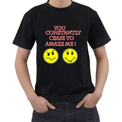 Cease To Amaze Twin-sided Black Mens'' T-shirt