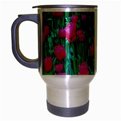 Tulip Flowers Travel Mug (Silver Gray) by ILPADRINO810