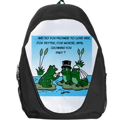 Frogswedding Backpack Bag by ColemantoonsFunnyStore