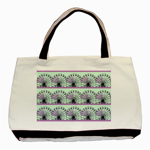 The Ferris Wheel   Tote 1 By Riksu   Basic Tote Bag   9on5pgy09pkx   Www Artscow Com Front