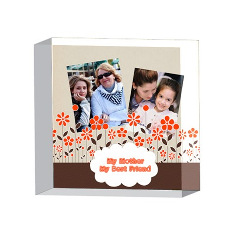 Mothers Day By Mom   4 x 4  Acrylic Photo Block   C97t6of8as7w   Www Artscow Com Front