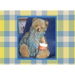 3 D  teddy bear -get well  card  (possible: your photo on the back side) - Get Well 3D Greeting Card (7x5)