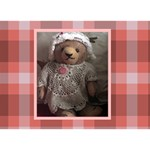 teddy bear  girl   (your own text   photo on the back side) - Get Well 3D Greeting Card (7x5)