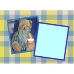 teddy bear boy 2 -get well  card   (your own photo on the front side) - Get Well 3D Greeting Card (7x5)