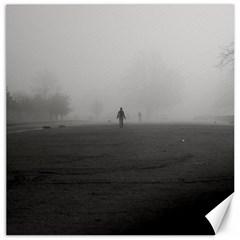 Foggy Morning, Oxford 16  X 16  Unframed Canvas Print
