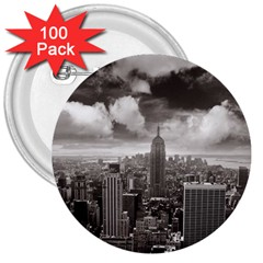 New York, Usa 100 Pack Large Button (round) by artposters