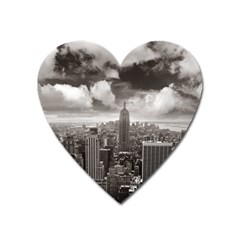 New York, Usa Large Sticker Magnet (heart) by artposters