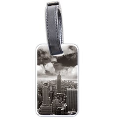 New York, Usa Single Sided Luggage Tag by artposters