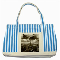 New York, Usa Blue Striped Tote Bag by artposters