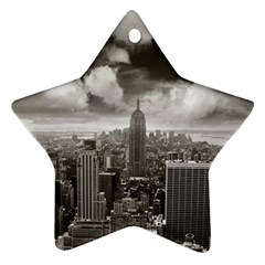 New York, Usa Twin Sided Ceramic Ornament (star) by artposters