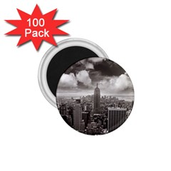 New York, Usa 100 Pack Small Magnet (round)