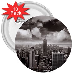 New York, Usa 10 Pack Large Button (round) by artposters