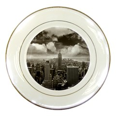 New York, Usa Porcelain Display Plate