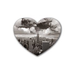New York, Usa Rubber Drinks Coaster (heart) by artposters
