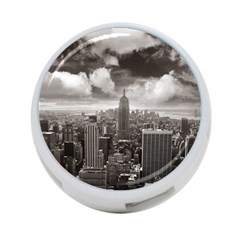 New York, Usa Single Sided 4 Port Usb Hub (round) by artposters