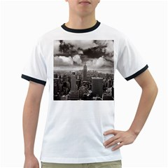 New York, Usa White Ringer Mens'' T Shirt by artposters