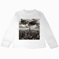 New York, Usa White Long Sleeve Kids'' T Shirt by artposters