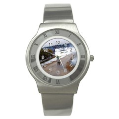 Rainy Day, Salzburg Stainless Steel Watch (round) by artposters