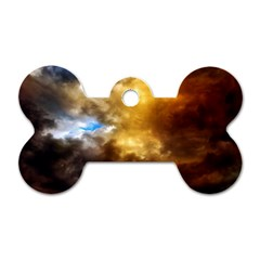 Cloudscape Single Sided Dog Tag (bone) by artposters