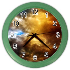 Cloudscape Colored Wall Clock by artposters